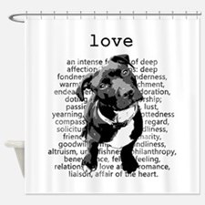 Pit Bull Love Shower Curtain