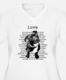 Pit Bull Love Plus Size T-Shirt