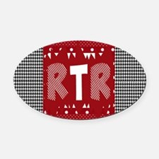 Houndstooth..RTR Oval Car Magnet