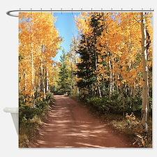 Colorado Autumn Road Shower Curtain
