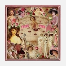 Pink Ladies Tile Coaster