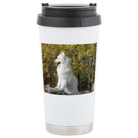 Fall Samoyed Stainless Steel Travel Mug