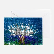Stained Glass Anemone  Greeting Card