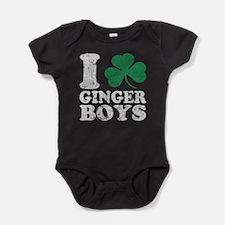 I love shamrock ginger boys Baby Bodysuit