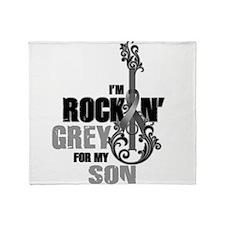 RockinGreylFor Son Throw Blanket