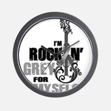 RockinGreylFor Myself Wall Clock