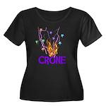Crone Women's Plus Size Scoop Neck Dark T-Shirt