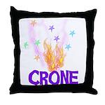 Crone Throw Pillow