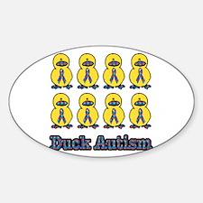 Autism Awareness Puzzle Ribbon Ducks Decal