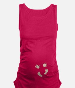 Whee- Baby Hands And Feet Maternity Tank Top