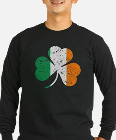 Shamrock St Pats Flag Long Sleeve T-Shirt