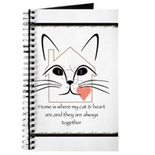 Cat and heart Journal