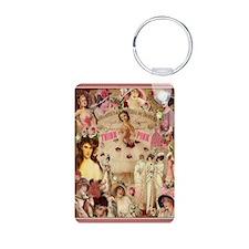 Pink Ladies Aluminum Photo Keychains