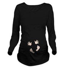 Baby Hands and Feet Light Long Sleeve Maternity T-