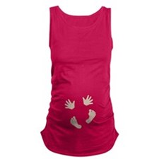 Baby Hands and Feet Light Maternity Tank Top