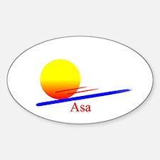 Asa Oval Decal