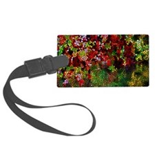 Stained Glass Autumn leaves refl Luggage Tag