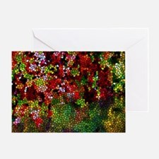 Stained Glass Autumn leaves reflecti Greeting Card