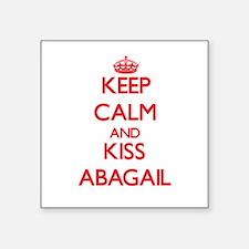 Keep Calm and Kiss Abagail Sticker