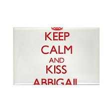 Keep Calm and Kiss Abbigail Magnets