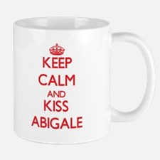 Keep Calm and Kiss Abigale Mugs