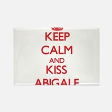 Keep Calm and Kiss Abigale Magnets