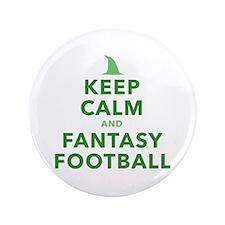 "Keep Calm and Fantasy Football 3.5"" Button"