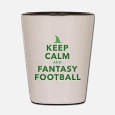 Keep Calm and Fantasy Football Shot Glass