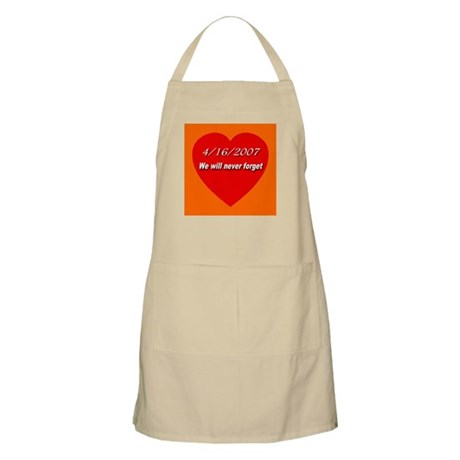 4/16/2007 We will never forge BBQ Apron