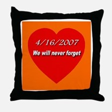 4/16/2007 We will never forge Throw Pillow