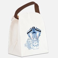 Buell Engine Blue Canvas Lunch Bag