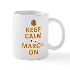 Keep Calm and March On Small Small Mug