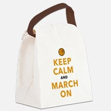 Keep Calm and March On Canvas Lunch Bag