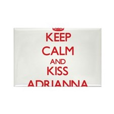 Keep Calm and Kiss Adrianna Magnets