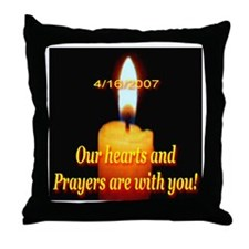4/16/2007 Our hearts and pray Throw Pillow