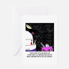 Tow Trucks in Space Greeting Card