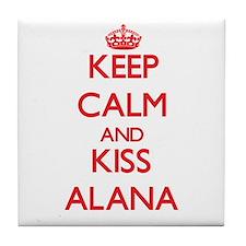 Keep Calm and Kiss Alana Tile Coaster