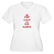 Keep Calm and Kiss Aleena Plus Size T-Shirt