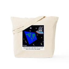 Flat Earth & No Global Warming Tote Bag
