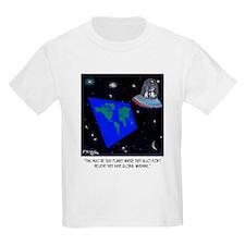 Flat Earth & No Global Warming T-Shirt