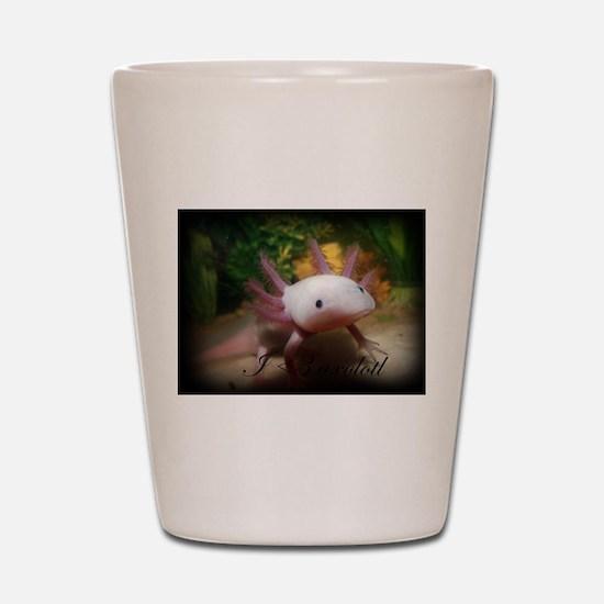 I <3 Axolotl Shot Glass