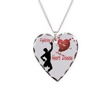 Fighting Off Necklace Heart Charm