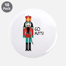 """GO NUTS 3.5"""" Button (10 pack)"""