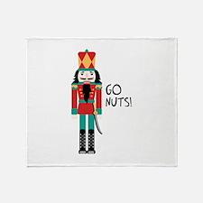 GO NUTS Throw Blanket