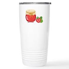 Strawberry Preserves Jam Jar Travel Mug
