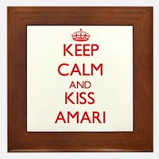 Keep Calm and Kiss Amari Framed Tile