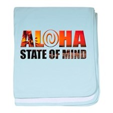 Sunset Aloha State of Mind baby blanket
