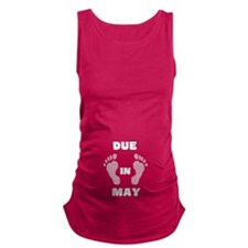 Cute Due in may Maternity Tank Top