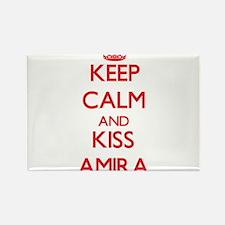Keep Calm and Kiss Amira Magnets