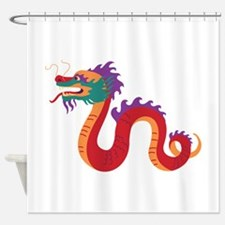 Chinese New Year Dragon Shower Curtain